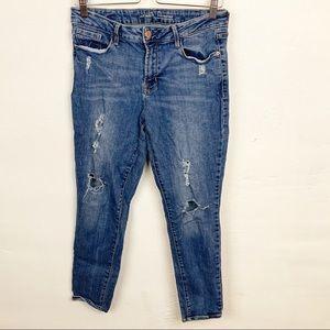 Old Navy l Distressed Mid Rise Rockstar Jeans